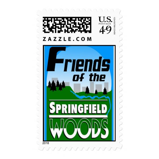 Friends of Springfield Woods logo Postage