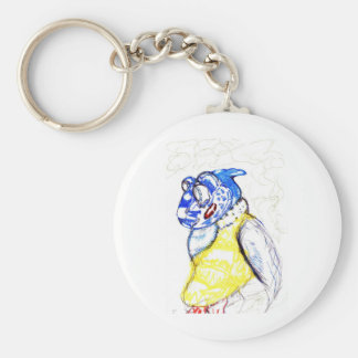 Friends of the feather basic round button keychain