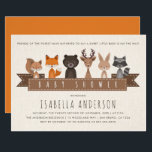 """Friends of the Forest Woodland Animals Baby Shower Card<br><div class=""""desc"""">Create your own &quot;Friends of the Forest Woodland Animals Baby Shower&quot; invitations by Cali Graphics.</div>"""