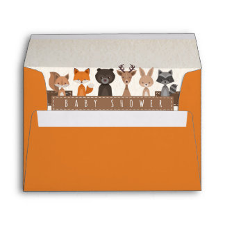Friends of the Forest Woodland Animals Baby Shower Envelope