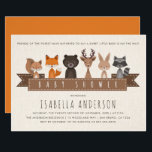 "Friends of the Forest Woodland Animals Baby Shower Invitation<br><div class=""desc"">Create your own &quot;Friends of the Forest Woodland Animals Baby Shower&quot; invitations by Cali Graphics.</div>"