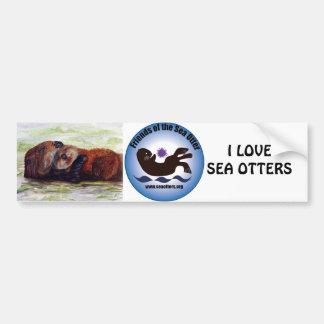 Friends of the Sea Otter Bumper Sticker Car Bumper Sticker