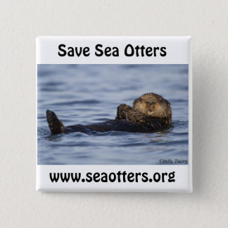 Friends of the Sea Otter Button