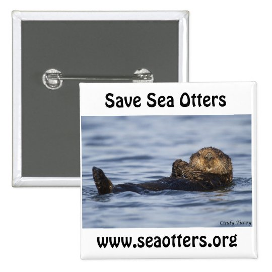 Friends of the Sea Otter Button