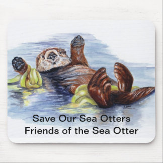 Friends of the Sea Otter Mousepad