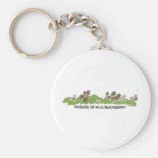 Friends of  Wild Blackberries Basic Round Button Keychain