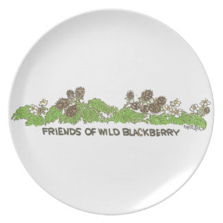 Friends of  Wild Blackberries Dinner Plate