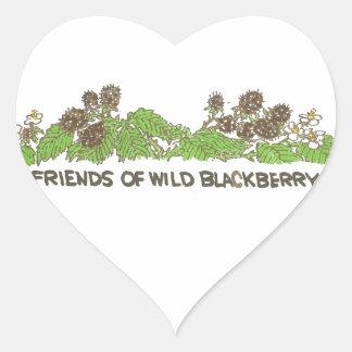 Friends of  Wild Blackberries Heart Sticker