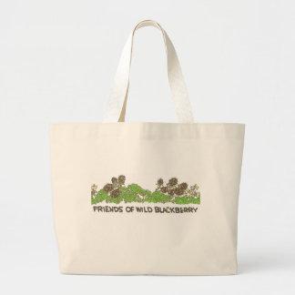 Friends of  Wild Blackberries Large Tote Bag