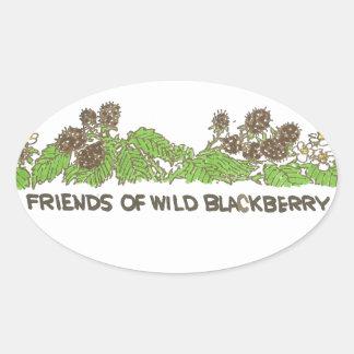 Friends of  Wild Blackberries Oval Sticker
