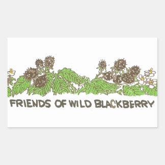 Friends of  Wild Blackberries Rectangular Sticker