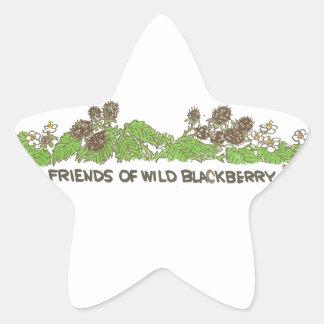 Friends of  Wild Blackberries Star Sticker