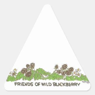 Friends of  Wild Blackberries Triangle Sticker