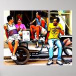 FRIENDS ON A HAVANA STREET PRINT