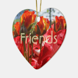 Friends ornaments Red Rose Flowers Friendship