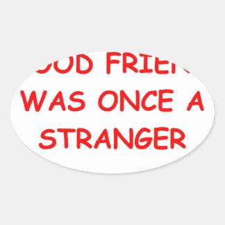 friends oval sticker