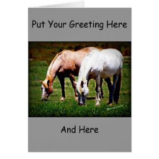 """""""Friends"""" Pair of Horses Card"""