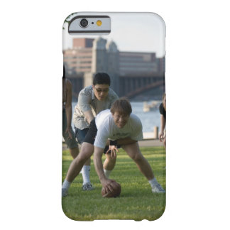 Friends playing game of football barely there iPhone 6 case