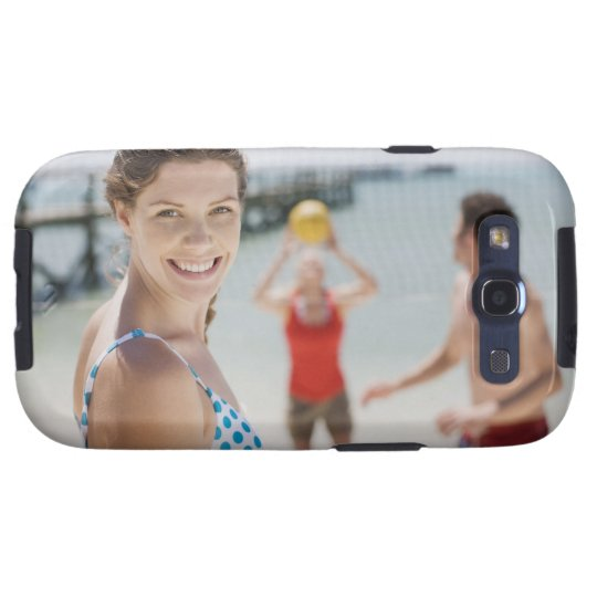 Friends playing volleyball at beach samsung galaxy s3 case