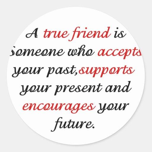 Friends.png verdadero pegatina redonda