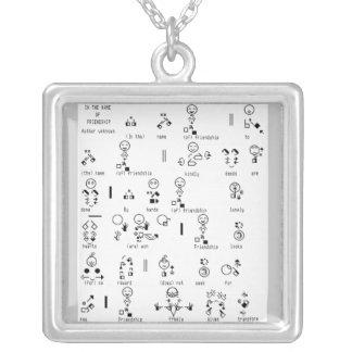 friends poem sign language necklace
