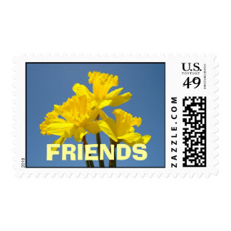 FRIENDS postage stamps Daffodil Flowers Spring