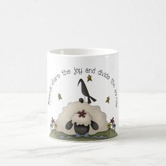 Friends Primitive Country Sheep Coffee Mug