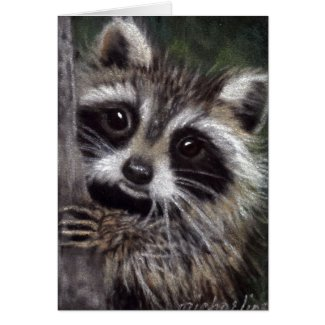 Friends? Raccoon Card