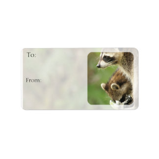 Friends Raccoons Custom Gift Tags Sheet