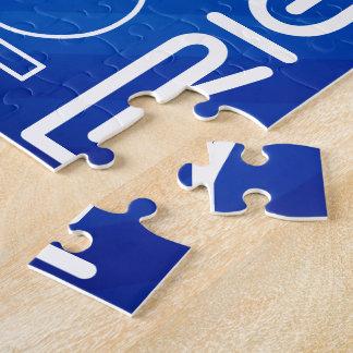 Friends; Royal Blue Stripes Jigsaw Puzzle