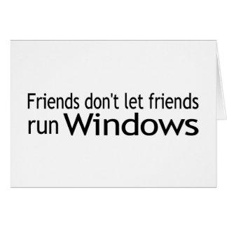 Friends Run Windows Greeting Card