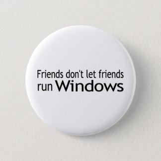 Friends Run Windows Pinback Button