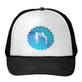Friends Sharing a Secret Trucker Hat