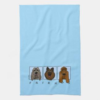 Friends: Spinone Italiano, Tervueren, Bloodhound Hand Towel