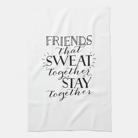 Training With Towels: Friends Sweat Workout Towel