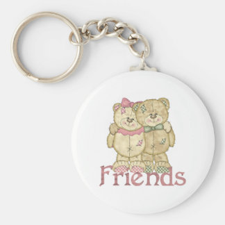 Friends Teddy Bear Pair - Original Colors Keychain