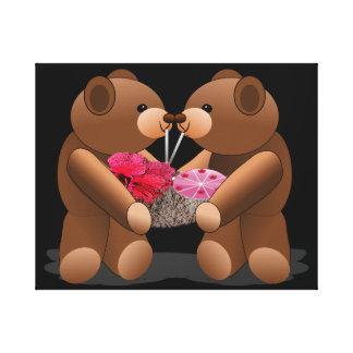 Friends Teddy Bear Print