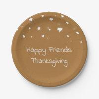 Friends Thanksgiving Paper Plates