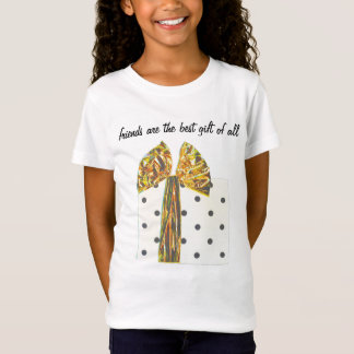 Friends the Best Gift Gold Ribbon T-Shirt