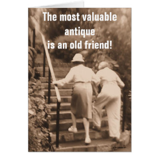 Friends till the end greeting card