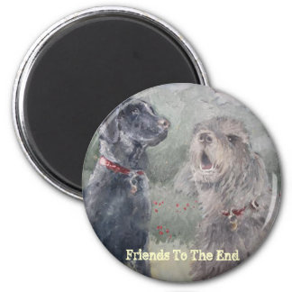"""""""Friends To The End"""" 2 Inch Round Magnet"""