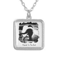Friends to the End - Cats Square Pendant Necklace