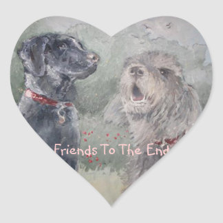 """Friends To The End"" Heart Sticker"
