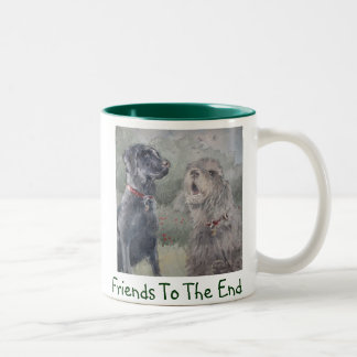 """Friends To The End"" Two-Tone Coffee Mug"