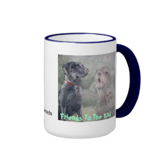 Friends To The End Ringer Coffee Mug