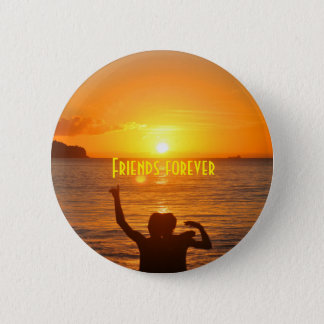 Friends together pinback button