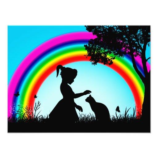 Friends under the Rainbow Art Photo