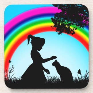 Friends under the Rainbow Beverage Coaster