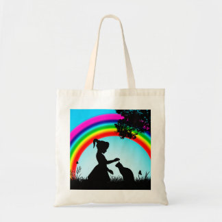 Friends Under The Rainbow Budget Tote Bag