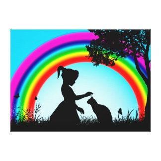 Friends under the Rainbow Canvas Print